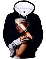 YLWXYA Pullover Ariana Grande Hoodie for Women and Men Hooded Sweater Casual Loose 3D Print Sweatshirt