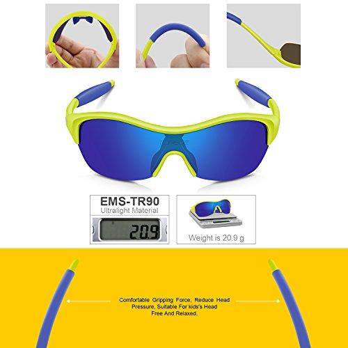 487c3b04d249 TOREGE Tr90 Flexible Kids Sports Sunglasses Polarized Glasses for ...