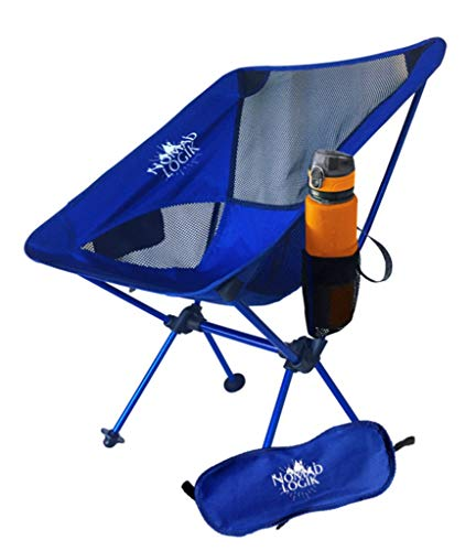 Nenda Lightweight Backpacking Chair- Compact, Portable, Folding Camping Chair with carry bag, pocket cup holder for Trail, Hiking, Beach