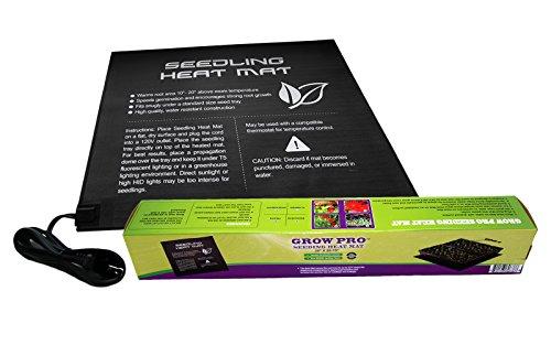 Garden Smart 20'' x 20.75'' Waterproof Seedling Propagation Starter Heating Pad Seed Germination Starting Heat Mat by Grow Pro