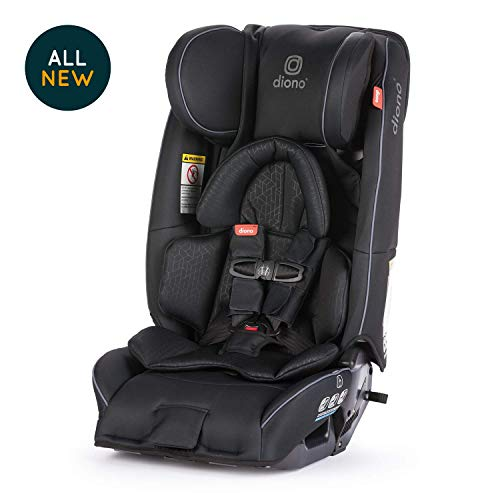 Diono Radian 3RXT All-in-One Convertible Car Seat - Extended Rear-Facing 5-45 Pounds, Forward-Facing to 65 Pounds, Booster to 120 Pounds - The Original 3 Across, Black