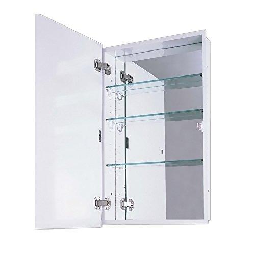 ketcham Cabinets Euroline II Series Recessed Slim Style Medicine Cabinet Polished Edge Mirror 18X36