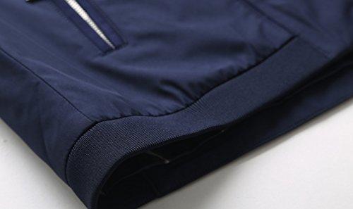 Lavoro Cappotto Zip Blu Lungo Classico Giacca A Classica Uomo Da m Lunghe red Con Maniche Casual Bqr0BwP
