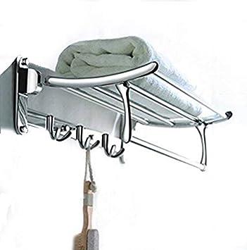 RESKA High Grade Chrome Finish Stainless Steel Folding Towel Rack