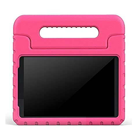 BMOUO ShockProof EVA Handle Stand Kids Case for Samsung Galaxy Tab A 8.0 – Rose (Samsung Galaxy Tab Cases 8 Inch)
