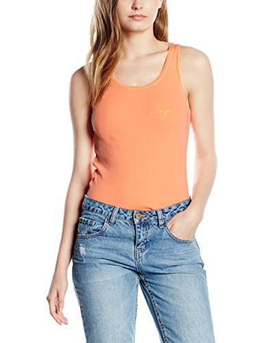 The Naranja Neon Mujer Mangas Tee Sin Hip Linda Camiseta Para ra8xzrq