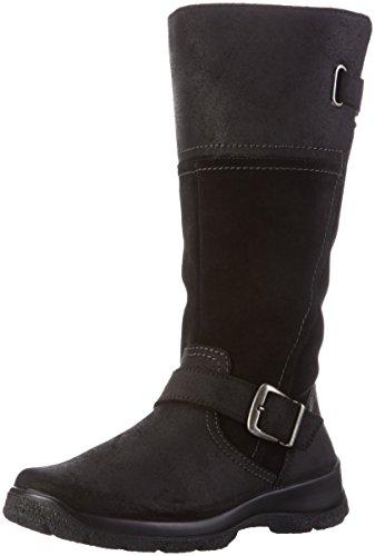 Kombi Mujer negro Botines Foor Legero Larga Caña De Trekking Para Invierno Botas 02 Y Negro aOxHURB