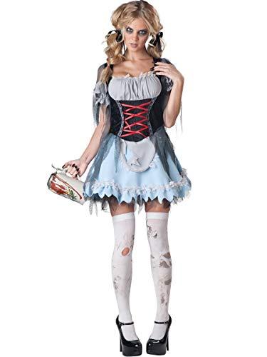 InCharacter Costumes Women's Zombie Beer Maiden Costume, Grey/Black,