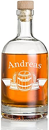 Botella de whisky con dedicatoria personalizada