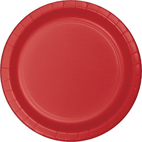 Creative Converting 75-Count Value Pack Paper Dessert Plates, Classic Red - 753548B
