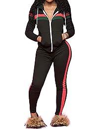 2127b954a4f98d Women s 2 PCS Plus Size Tracksuit Sets Sweatsuits Outfits Hoodie Sweatshirt  and Jogging Sweatpants Suit