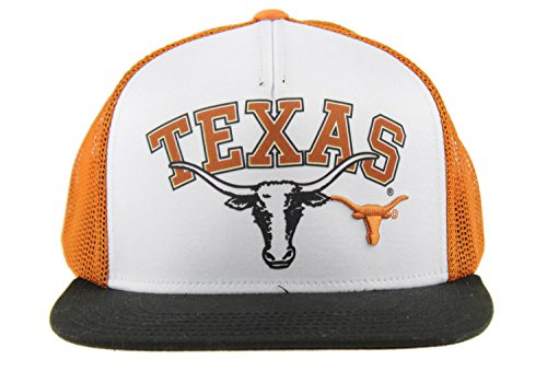 (Outerstuff NCAA Big Boys Youth Texas Longhorns Adjustable Trucker Hat, White)