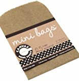 "Bulk Buy: Canvas Corp Mini Gift Bags 2.5""X4"" 25/Pkg Kraft (6-Pack)"