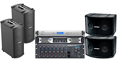 Multimix Series (Bose Portable Sound System with Panaray 802 Series IV Loudspeakers, MB4 Loudspeakers, ControlSpace SP-24 Sound Processor, Alesis MultiMix 10 Wireless Rackmount Mixer, Ashly Power Amplifier)