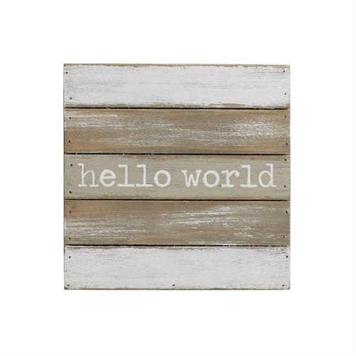 Plaque Nursery Décor, Hello World Wall