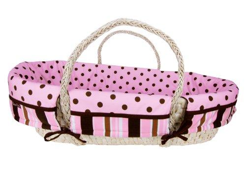 Trend Lab Moses Basket Set, Maya Pink
