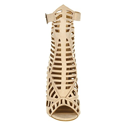 toe Donna Diva Peep Suedette Miss Nude Shoes If7tqxnwC