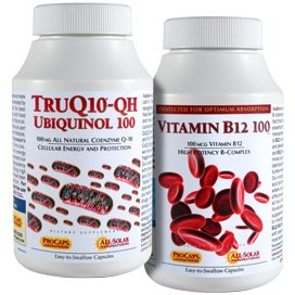 TruQ10 QH Ubiquinol-100 with Vitamin B12-100 120 Servings by Andrew Lessman