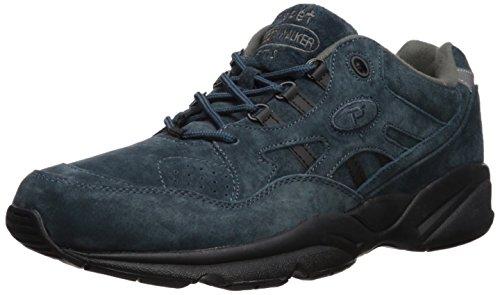 Propet Men's Stability Walker Walking Shoe, Denim Suede, 13 5E US Walker Denim