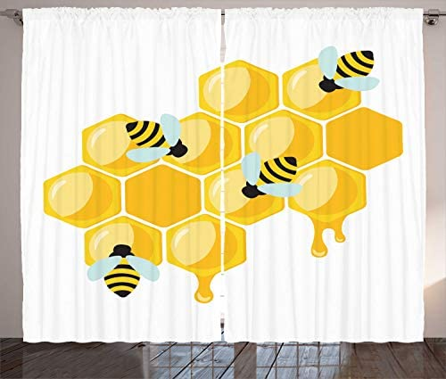 Lunarable Honey Bee Curtain