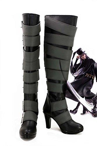 [Black Butler Kuroshitsuji Undertaker Cosplay Shoes Boots Custom Made 2] (Undertaker Childrens Costume)