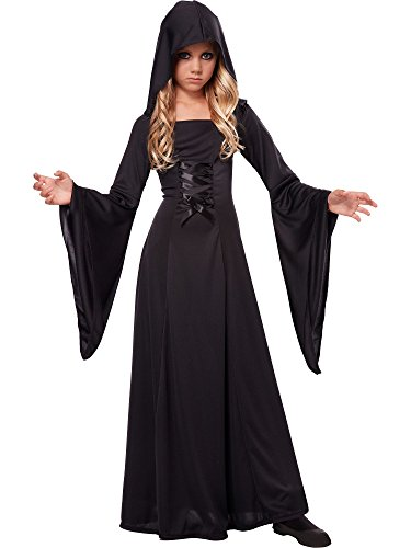 Black Female Halloween Costumes (California Costumes Hooded Robe Costume, One Color,)