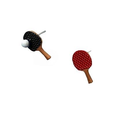 Reiko Gracioso Lindo Paleta De Ping Pong Aretes Para Mujeres ...