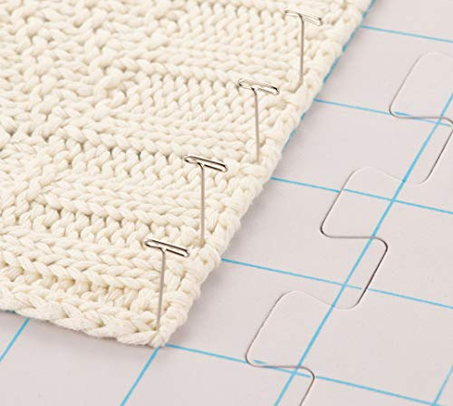 Juvale 9-Pack Thick Blocking Board Mats with 200 T-Pins and Storage Bag for Knitting and Crochet, 12.5 Inches by Juvale (Image #2)