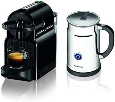 Nespresso Inissia Espresso Maker with Aeroccino Plus Milk Frother, Black