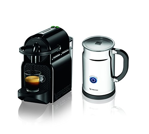 Nespresso Inissia Espresso Maker with Aeroccino Plus Milk Frother, Black (Discontinued Model)