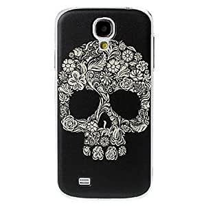 Florals Skull Pattern Plastic Case for Samsung Galaxy S4 I9500