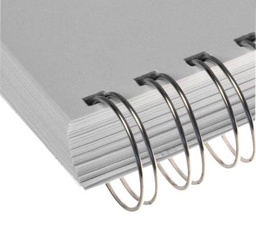 25 RENZ Drahtkamm - Binderücken / 32, 0 mm / silber / 280 Blatt / DIN A4 / Teilung 2:1 / 23 Ringe 323200623/0