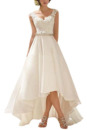 fitted a line lace wedding dress - 4