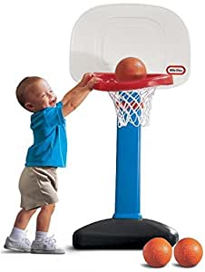 Little Tikes EasyScore Basketball Set, Blue - 3 Ball Amazon Exclusive