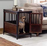 HOT! Dog Pet Crate Kennel Brown Medium End Table Wood Cage Puppy Bed Wooden Furniture