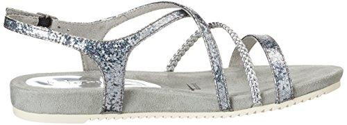 Tamaris Women's 28106 Wedge Heels Sandals, Silver (Silver Struct. 927), 3 UK Silver (Silver Struct. 927)