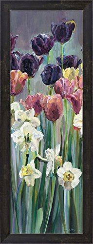 Great Art Now Grape Tulips Panel II by Marilyn Hageman Framed Art