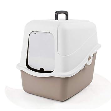 JHKJ Caja De Arena Desodorante para Gatos Totalmente Cerrada Caja De Arena para Salpicaduras Doble Cerrada,Brown-35 * 48 * 40cm: Amazon.es: Hogar