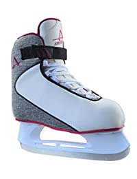 American Athletic Shoe Women's Soft Boot Hockey Skates, Grey