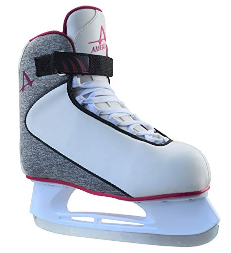 (American Athletic Shoe Co.Women's American Soft Boot hockey Skate , Grey, 9 (Style may vary))