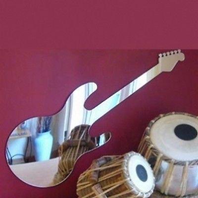 MirrorMagic Guitarra eléctrica Estilo Dean acrílico Espejo de Seguridad, acrílico, Plateado, 60cm x 20cm: Amazon.es: Hogar