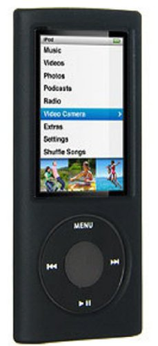 Amzer Silicone Skin Jelly Case for iPod nano 5G (Black) (Ipod 5 Jelly Silicone Cases compare prices)