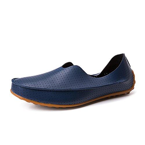 Profitd Homme Chaussures Mocassins Flats Respirant Creux Out en Cuir V