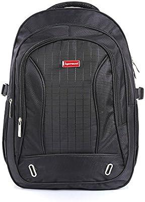 Supermeet Backpack Men Mochila Tide Plaid Nylon School Backpacks for Boys Waterproof Bagpack Black Mens Laptop Backpack Bag