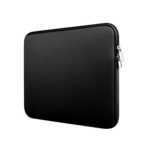 Aolvo Mini Laptop Sleeve, Slim Neoprene Padded Carrying Bag Cover Multi-color & Size Choices Case for Apple Air MacBook Pro Ipad Pro, Chromebook Ultrabook 11-12 Inch,Black ()