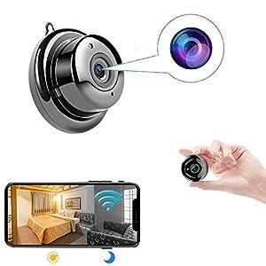 Flashandfocus.com 41GFo%2BlIwOL._SS300_ Security Cameras Hidden Spy Camera WiFi Mini Camera Nanny cam, with Two-Way Audio, Home Security Surveillance Nanny…