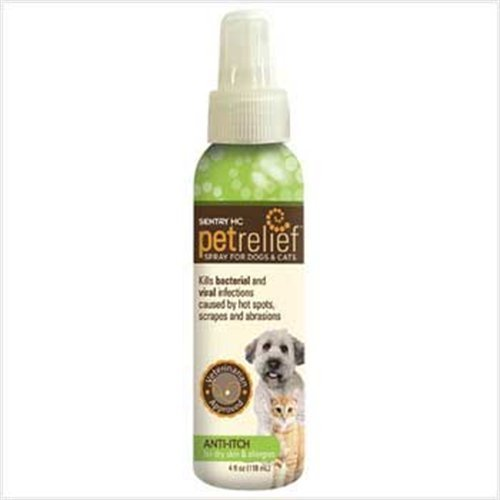 Sentry HC Pet Relief Anti Itch Spray for Dogs and cats, 8.4-Ounce, My Pet Supplies