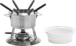Home Presence 3 in 1 Stainless-Steel Fondue Set by Trudeau - 40 ounce