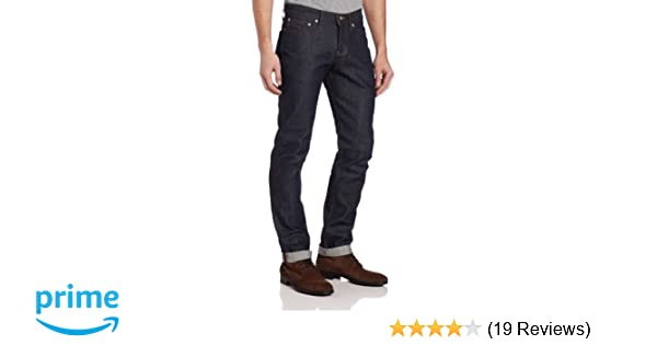 newest f23b7 cc9dd Naked & Famous Denim Men's Weird Guy Low-Rise Jean in Dirty Fade Selvedge