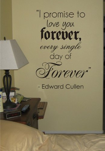 Amazon.com: I Promise to Love You Forever Twilight Quote ...